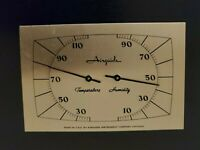 Vintage Airguide Relative Indicator Temperature Humidity Gauge made in usa