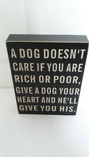 NEW BLACK & WHITE SHABBY CHIC DOG QUOTATION WALL PLAQUE