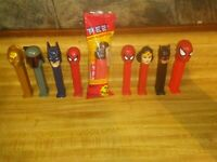 Vintage pez dispensers lot of 9 one still in pack! BB