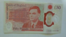 More details for new uncirculated £50 note with aa01serial number