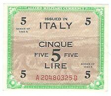Italy - 1943, 5 Lire
