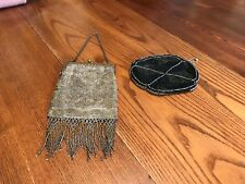 2 - Vintage Antique Hand Beaded/Cut Steel French Purses