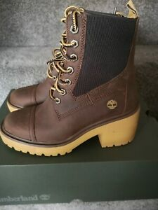 Women's Timberland Silver Blossom Mid Boot Winter Ankle Size UK 4 Eu 37 Brand...