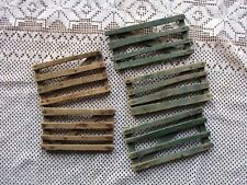 Antique Painted Lot of 5 Primitive Miniature Sections of Wood Fence Gates