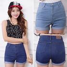 Chic Women Sexy High Waist Denim Jeans Summer Hot Pants Shorts Size 6 8 10 12 14