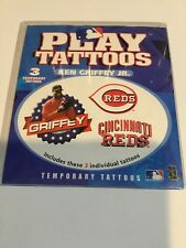 KEN GRIFFEY JR. PLAY TATTOOS CINCINATTI REDS HOF 1999 NEW IN PACKAGE