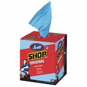 Scott 75190 Blue Shop Rags Box of 200