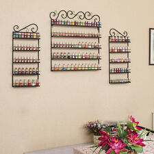 6 Tier Black Nail Polish Display Wall Rack Metal Organizer(Holds over 200 Bottle