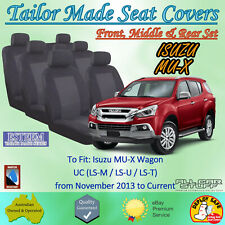 Tailor Made Seat Covers for Isuzu MUX (MU-X): All Models from 11/2013 to Current