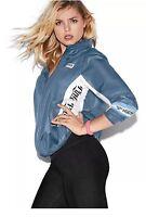 Victoria's Secret PINK Anorak Windbreaker Jacket Full-Zip, Blue, XS/S NWT