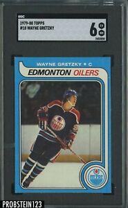1979-80 Topps Hockey #18 Wayne Gretzky Oilers RC Rookie HOF SGC 6 EX-NM