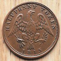 Canadian 1815 - Spread Eagle Half Penny Token BRETON 994 Canada Coin Nice Detail