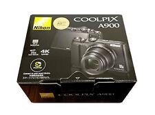 Nikon COOLPIX A900BK 20MP Wi-Fi 35x Optical Zoom 4K Digital Camera Japan F/S
