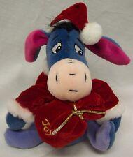 """Walt Disney Winnie the Pooh EEYORE IN SANTA COSTUME 6"""" Stuffed Animal TOY"""