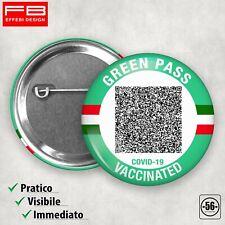 Green Pass Spilla Spilletta Certificato Verde Vaccinazione QRCode Greenpass
