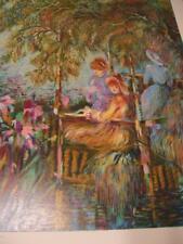 """Untitled "" by Zina Roitman  hand-signed embellished serigraph"