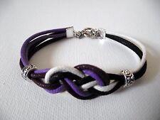 Bracelet  noeud marin 4 couleurs  bijou fantaisie carrick