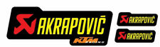 3 Adesivi Stickers AKRAPOVIC KTM Racing resistente al calore giallo