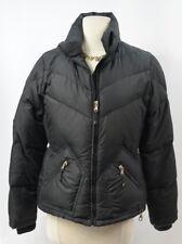 J. CREW Jacket Puffer Down Coat Women's Winter Jacket Black SZ M Medium zip EUC