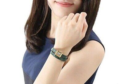 Gucci G-frame Quartz Watch Ya128525 Double Leather Wristband Women Swiss Made