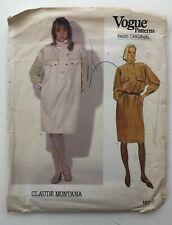 Vtg 80s Claude Montana Vogue Paris Original Dress Sewing Pattern 1071 Sz 16 NEW