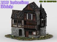 Lego MOC Tudor House 2 Medieval Custom Model instructions, NO PARTS