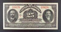 1915 Revolutionary Mexico - El Estado de Sonora 25 Centavos Banknote, P-S1069.