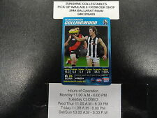 2007 TEAMCOACH BLUE PRIZE CARD NO.14 BEN JOHNSON COLLINGWOOD