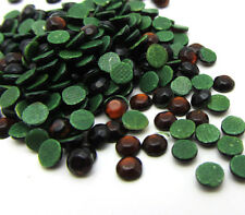 New 800pcs 3MM Loose Round Iron On Hotfix Crystal Rhinestones Brown Color