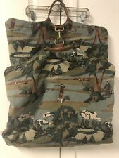 Vintage 90's ACCESSORIES UNLIMITED Garment Bag Golf Field And Golf Players USA