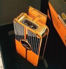 More details for 24k gold plated metal cohiba pocket lighter triple flame 3 turbo jet cigar punch