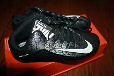NIKE MEN'S ALPHA STRIKE 2 3/4 FOOTBALL CLEATS 725227-010 SIZE 9 SAMPLE