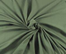Pine Organic Cotton Spandex Fabric Eco Friendly Jersey Knit By Yard 220 GSM