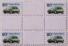 Stadspost Zaanstad 1998 - Blok van 4 met tussenstroken auto's, cars VW Lupo