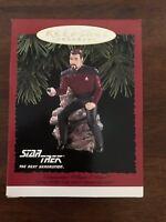 1996 Star Trek The Next Generation TNG William Riker Hallmark Keepsake Ornament