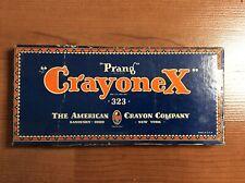 Vintage Prang Crayonex 323 Crayons American Crayon Co Sandusky Oh Made in Usa