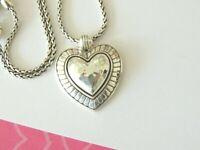 Brighton BIG SKY HEART Silver Pendant Necklace new tags $68