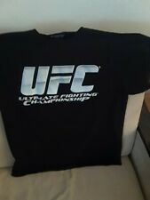 UFC T Shirt Black Size Large Short Sleeve