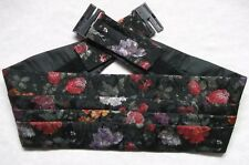 Cummerbund Mens Pleated Vintage Retro 1980s 1990s FLORAL FLOWERS Adjustable