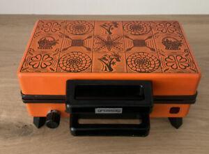 Zimtwaffeleisen / Waffeleisen GROSSAG Typ 4107 orange / Vintage 60er 70er Jahre!