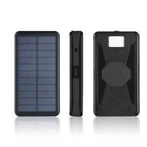 2021 Waterproof Solar Power Bank 30000mAh Portable External Battery Charger US