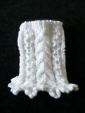 XXXXS handmade White dog sweater dress