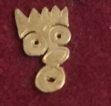 1 9 carat yellow gold single face earring butterfly fastened