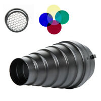 SN-01 Conical Snoot Honeycomb Grid Light Beam Tube for Bowens Mount Studio Flash