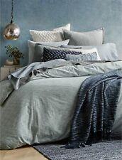 LUCKY BRAND $300 Blue SANTE FE STRIPE Full/Queen 3 Pcs Comforter Set VINTAGE D08