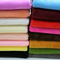 Soft Short Plush Velvet Fabric Light Weight Upholstery Sewing Table Cloth Crafts