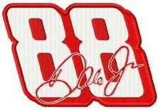 DALE EARNHARDT JR NUMBER 88 SET OF 2 BATH HAND TOWELS EMBROIDERED BY LAURA