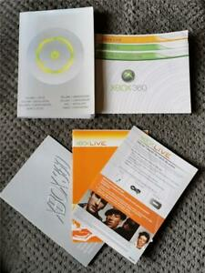 GENUINE MICROSOFT XBOX 360 CONSOLE INSTRUCTION MANUAL PACK - FAST FREE UK POST