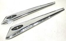 1963  63  FORD GALAXIE CAR FRONT FENDER TOP CHROME ORNAMENT  PAIR NEW