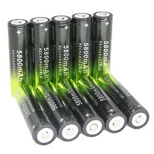 10*3.7V Battery Li-ion 18650 Rechargeable Battery For Flashlight From USA LION@5